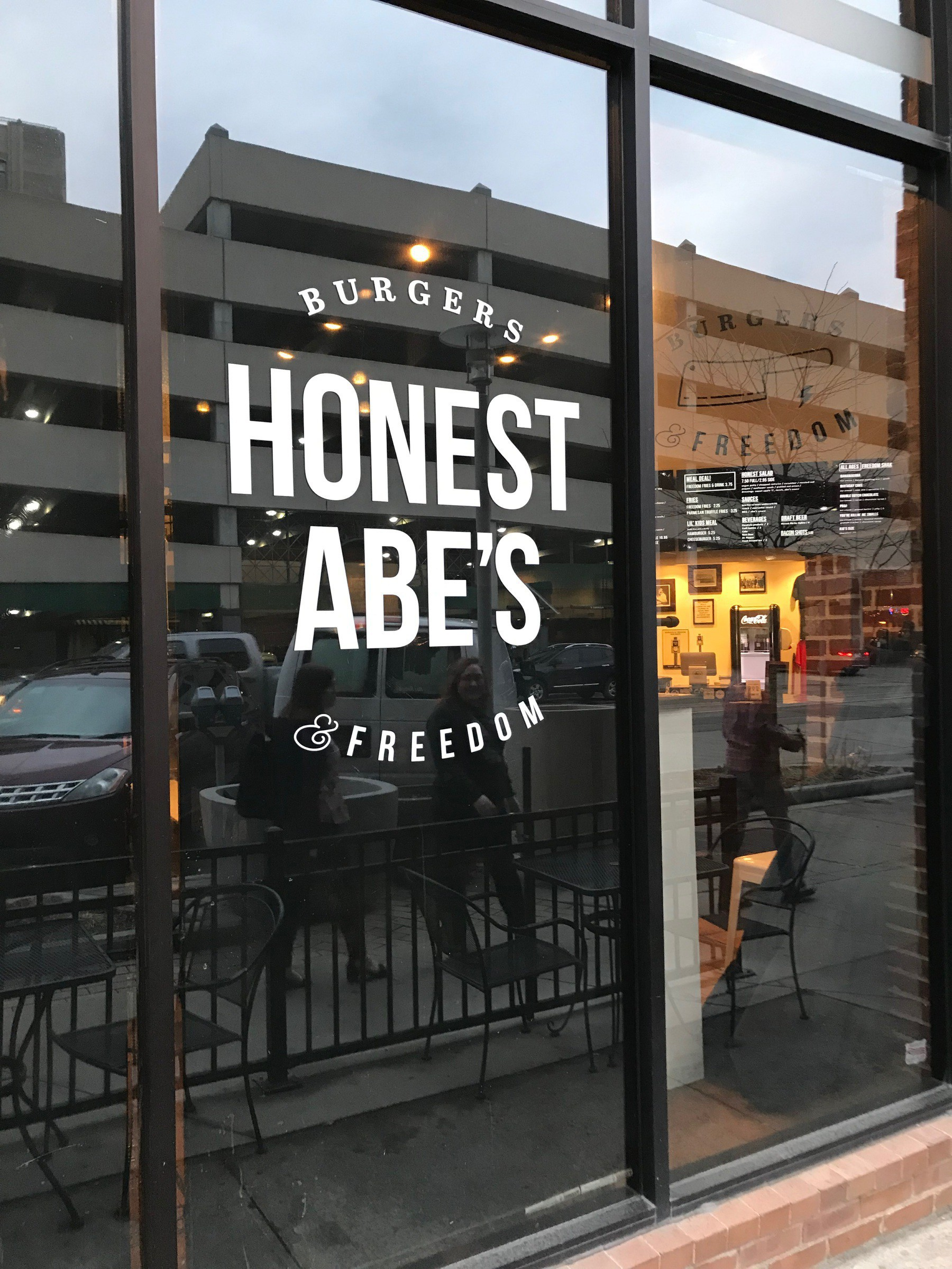 "A business named ""Honest Abe's Burgers and Freedom"""