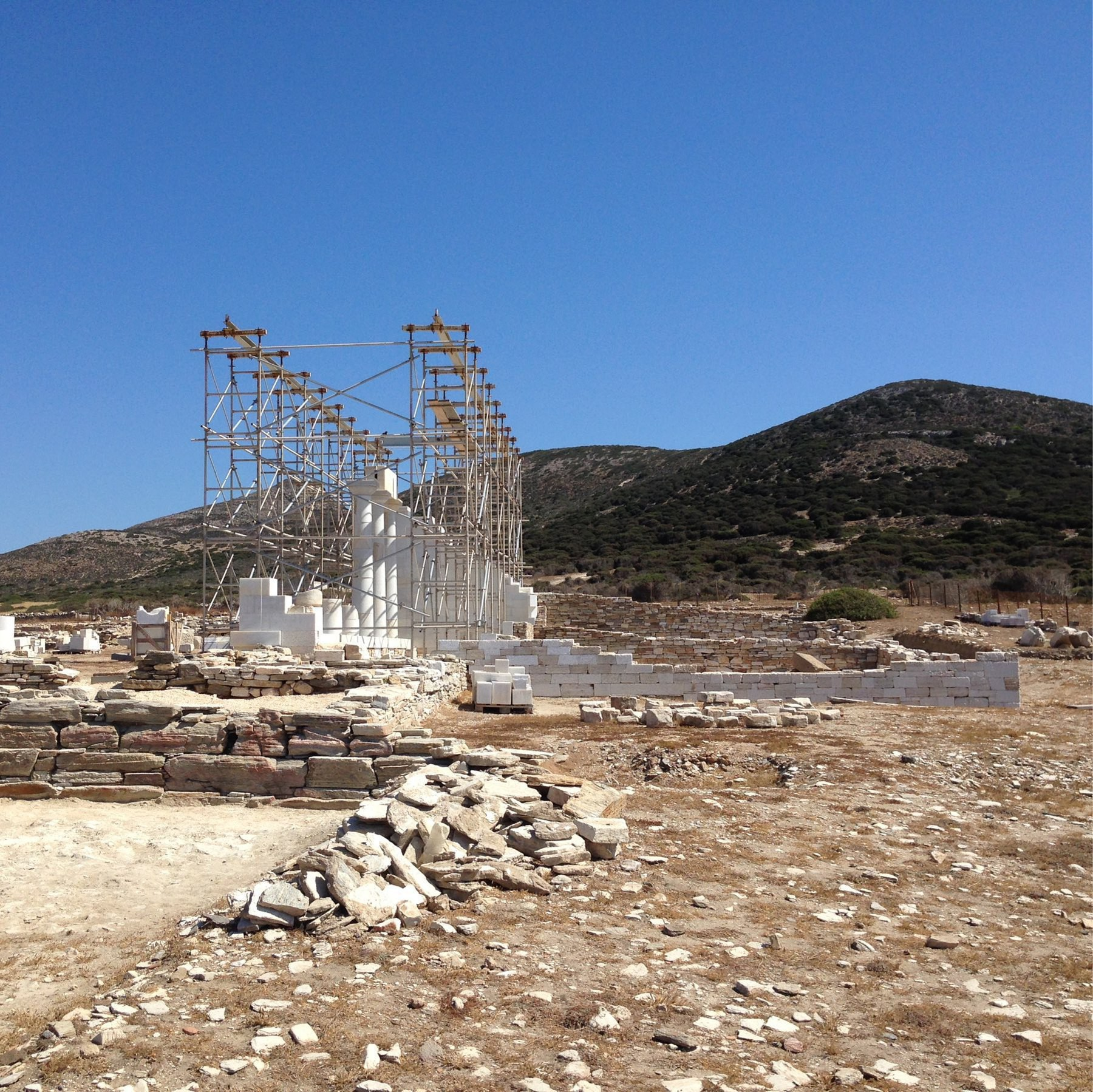 reconstruction work at sanctuary of apollo